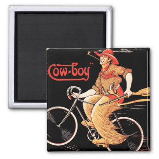 "Cycles Tnomed ""The Cowboy"" Bicycle Magnet"