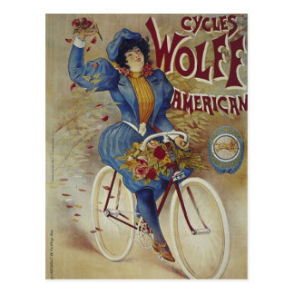 Cycles Wolff American Bicycle Poster Postcards