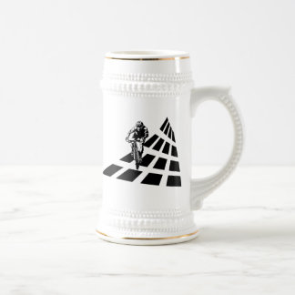 Cycling Abstract 18 Oz Beer Stein