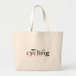 Cycling Jumbo Tote Bag