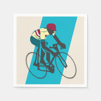 Cycling (Blue) Paper Napkins