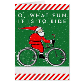 Cycling Christmas Card