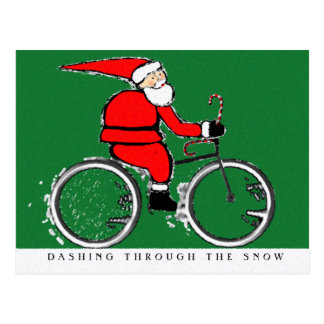 Cycling Christmas Cards Postcard