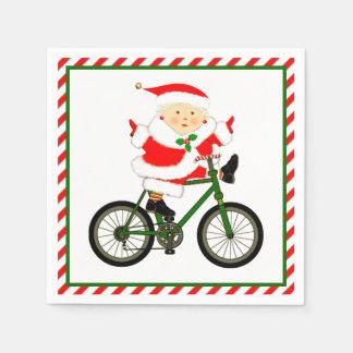 Cycling Christmas Disposable Napkins