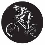 cycling clycer inverse silhouette photo sculptures