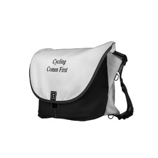 Cycling Comes First Messenger Bags