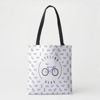 Cycling complete shoulder farrowed blue tote bag