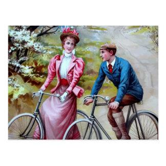 Cycling Couple Postcard