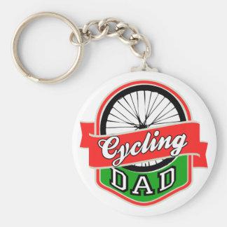 Cycling Dad Keychain