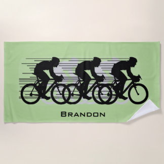 Cycling Design Beach Towel