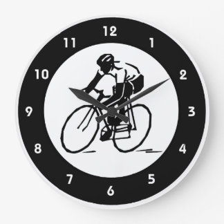 Cycling Design Wall Clock
