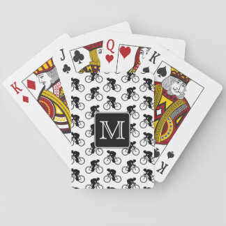 Cycling Design with Custom Monogram Playing Cards