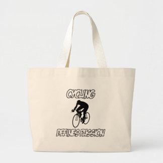 cycling designs tote bag
