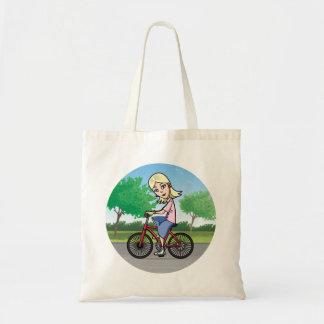 Cycling girl bag