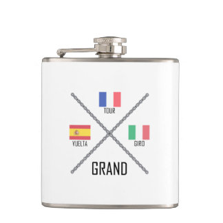 Cycling Grand Tours Hip Flask