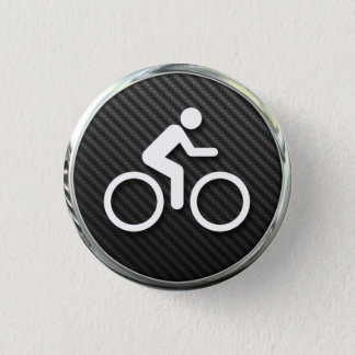 Cycling Icon 1 Inch Round Button