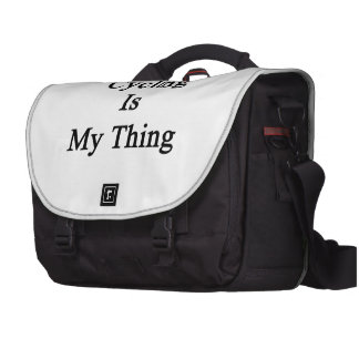 Cycling Is My Thing Laptop Bags