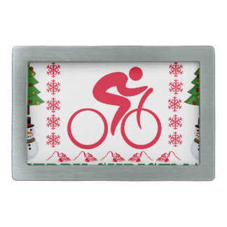 CYCLING MERRY CHRISTMAS . BELT BUCKLES