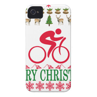 CYCLING MERRY CHRISTMAS . iPhone 4 CASE