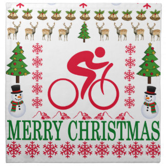 CYCLING MERRY CHRISTMAS . NAPKIN