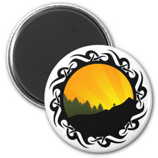 cycling mountain rayz magnet