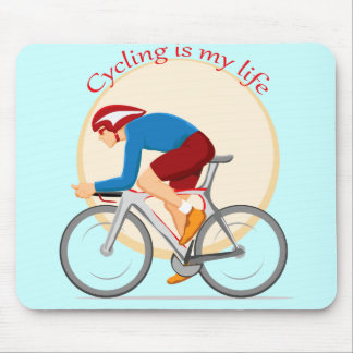 Cycling mouse pad. mouse pad
