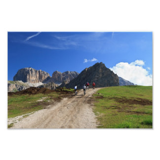 cycling on Dolomites Photo Print