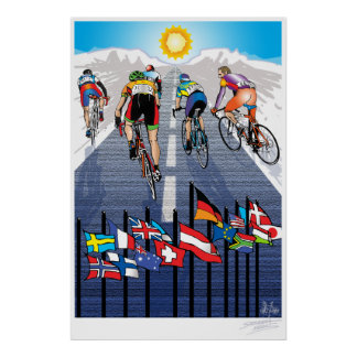 Cycling Pack Mentality Poster