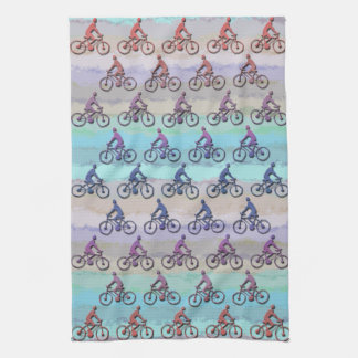 CYCLING PATTERN KITCHEN TOWEL