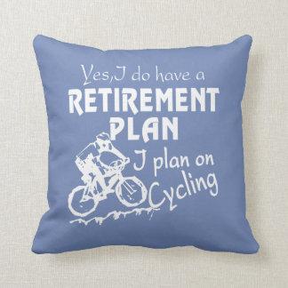Cycling plan throw pillow