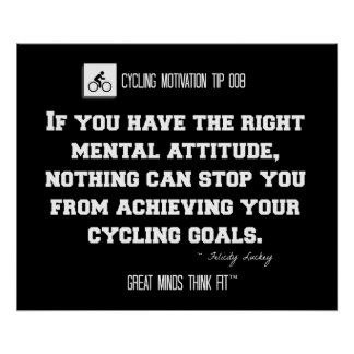 Cycling Poster with Quote in Black and White 008