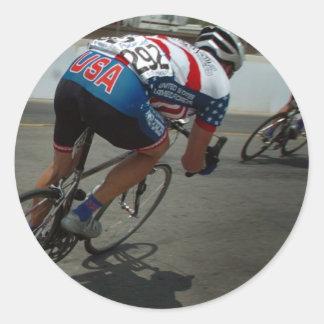 Cycling Race Round Sticker