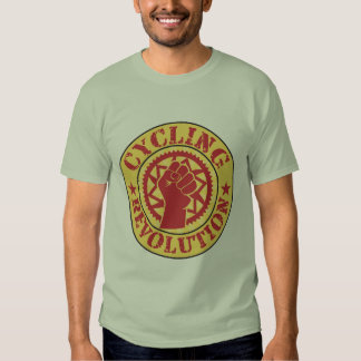 Cycling revolution badge tshirt