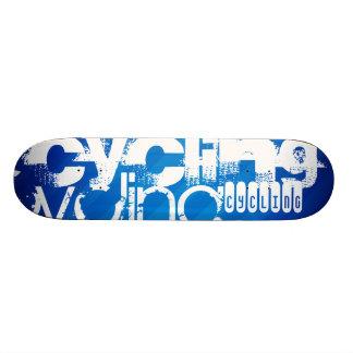Cycling; Royal Blue Stripes Skate Boards