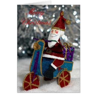 Cycling Santa Card
