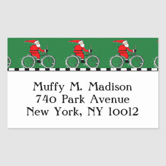 Cycling Santa Claus Sticker