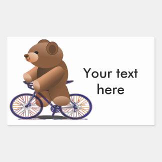 Cycling Teddy Bear Print