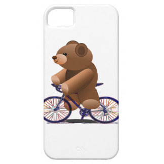 Cycling Teddy Bear Print iPhone 5 Cover
