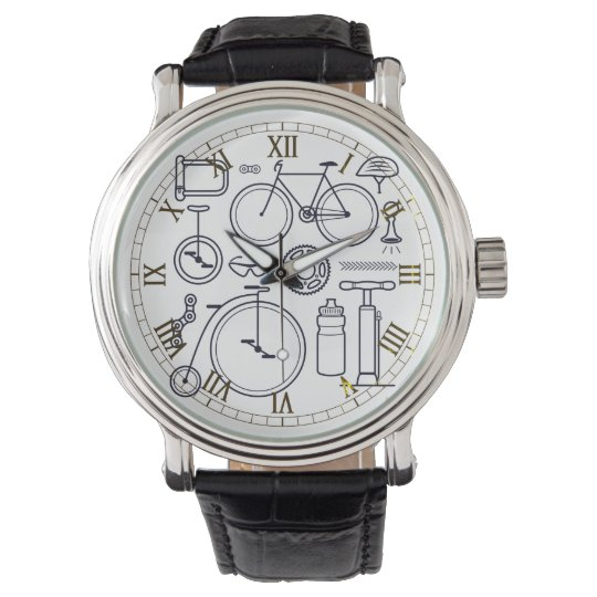 Cycling Themed Bicycle Design Wristwatch