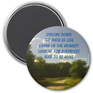 CYCLING THROUGH LIFE MAGNET