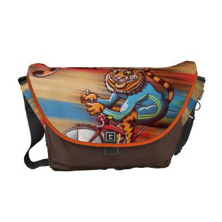 Cycling Tiger Messenger Bag