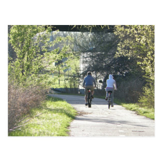 Cycling Together Postcard