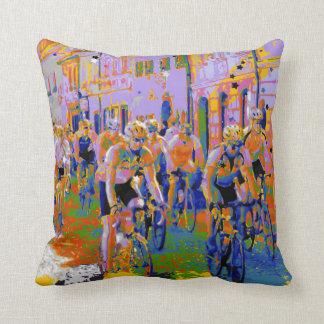 Cycling Tour De France Arty Throw Pillow