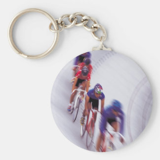 Cycling Track Race Bicycle Cycle Bicycling Basic Round Button Keychain