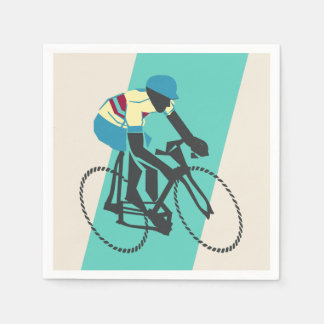 Cycling (Turquoise) Paper Napkins