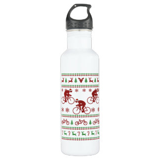 Cycling Ugly Christmas Sweater 710 Ml Water Bottle