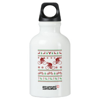 Cycling Ugly Christmas Sweater Water Bottle