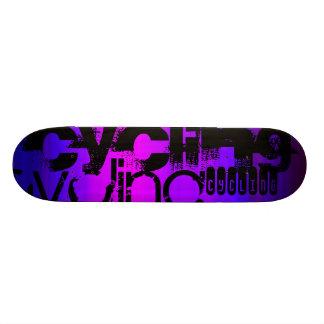Cycling; Vibrant Violet Blue and Magenta Skate Decks