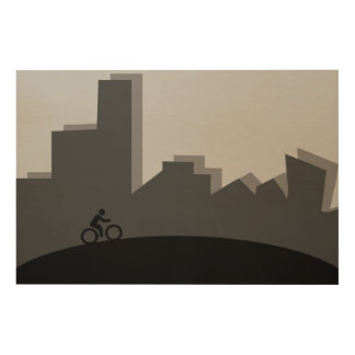 Cycling Wood Wall Decor