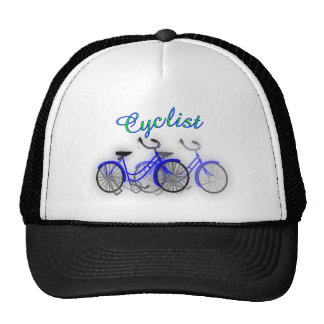 Cyclist (1950 Bicycle) Watercolor drawing Design Trucker Hat